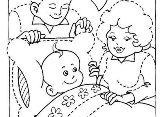 Familia Muy Feliz Para Colorear Dibujos Para Colorear