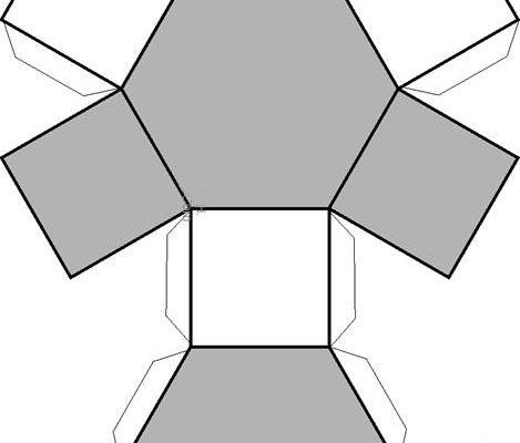 Figura Geométrica Exagonal Dibujos Para Colorear