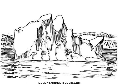 Iceberg Para Colorear Dibujos Para Colorear