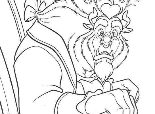 La Bestia De Disney Para Pintar Dibujos Para Colorear