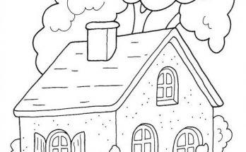 Dibujo Casa de Caperucita en el bosque