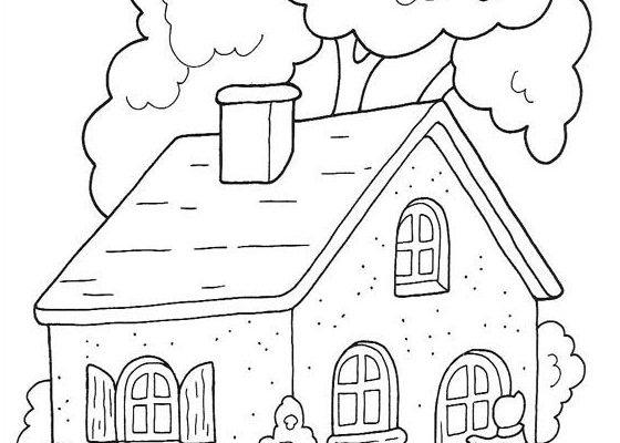 Casa De Caperucita En El Bosque Dibujos Para Colorear