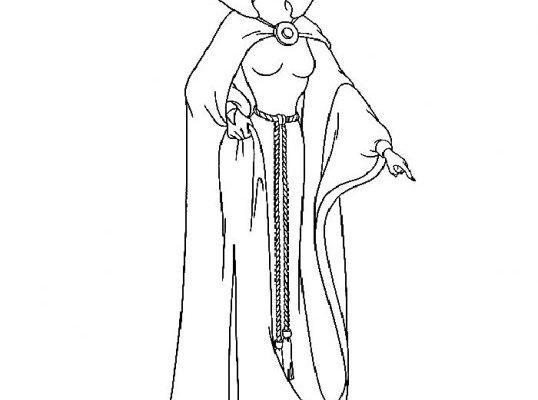 Dibujo Dibujo de la madrastra de Blancanieves