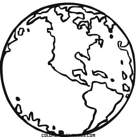Nuestro Planeta La Tierra Dibujos Para Colorear