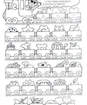 El Tren Del Abecedario Dibujos Para Colorear