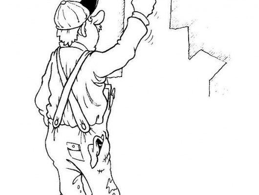 Dibujo Pintor de brocha gorda