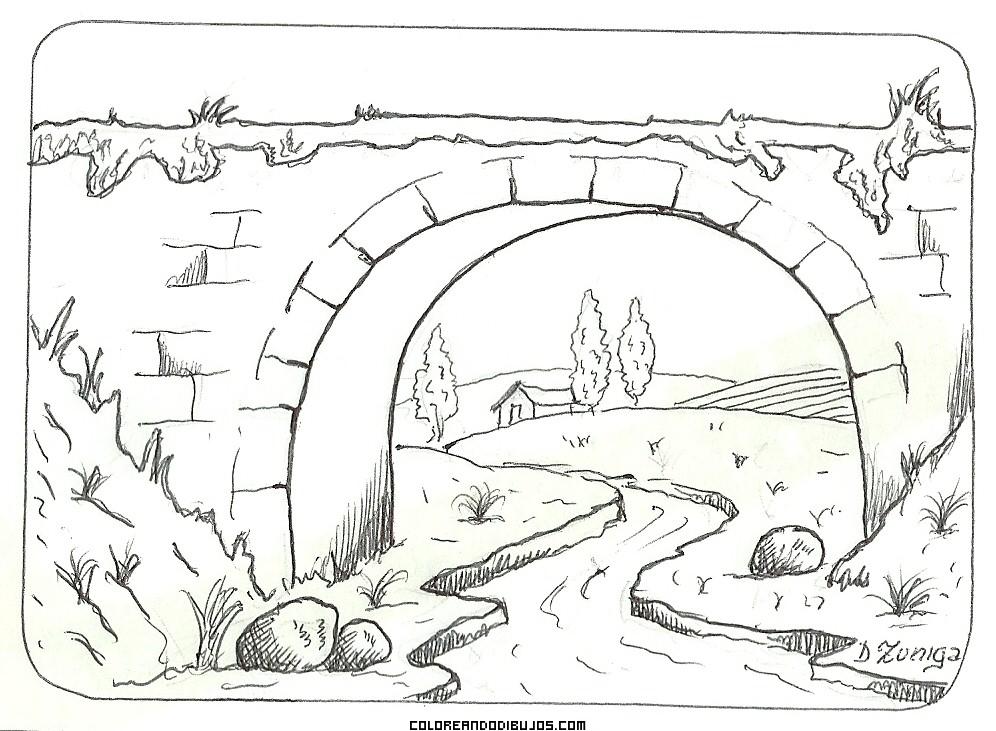 Puente Romano Para Colorear Dibujos Para Colorear