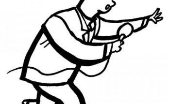 Dibujo Dibujo de un periodista para colorear