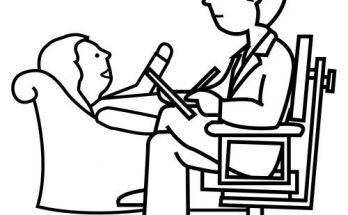 Dibujo Psiquiatra ejerciendo su profesión