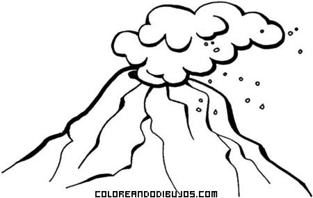 Volcán Activo Para Colorear Dibujos Para Colorear