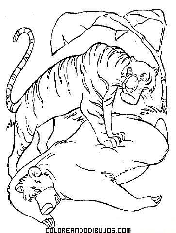 Dibujo Del Libro De La Selva Para Colorear Dibujos Para