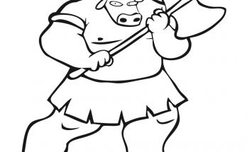 Dibujo Minotauro para colorear