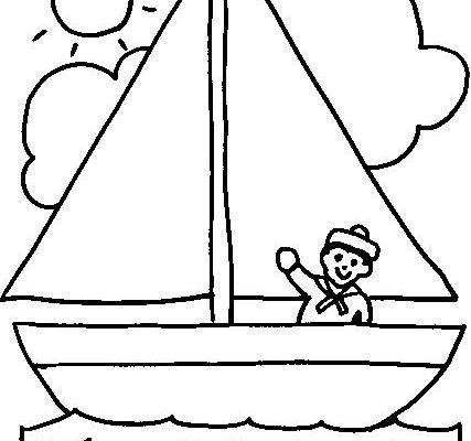 Dibujo Marinero en su velero