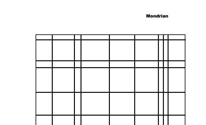 Dibujo Piet Mondrian