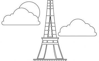 Dibujo Torre Eiffel para colorear
