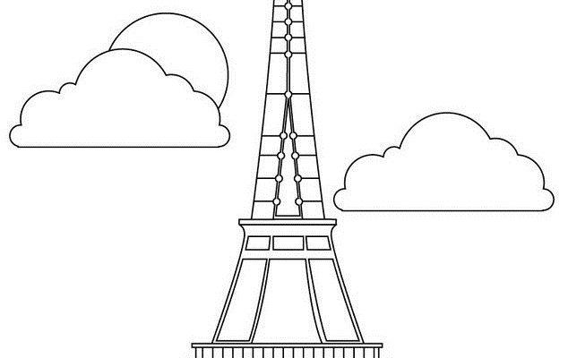 Torre Eiffel Para Colorear Dibujos Para Colorear