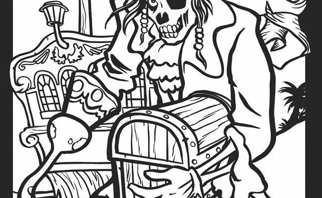 Dibujo Monstruoso pirata para colorear
