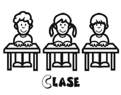 Niños En Clase En La Escuela Dibujos Para Colorear