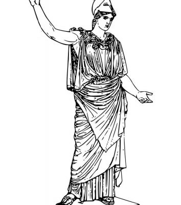 Dibujo Diosa Atenea para colorear