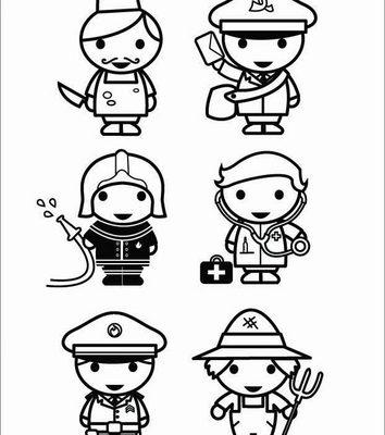 Diferentes Profesionales Para Colorear Dibujos Para Colorear
