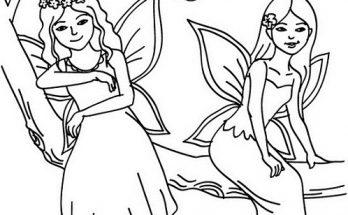 Dibujo Hadas de fantasía para pintar