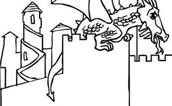 Dibujo Dragón descansando