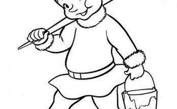Dibujo El amigo de Santa Claus