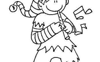 Dibujo Duende flautista