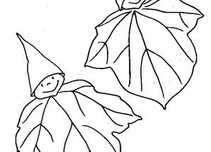 Dibujo Dibujo de hojas duende