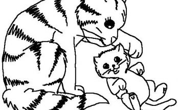 Dibujo Dulces gatitos