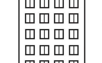 Dibujo Gran edificio de apartamentos para colorear