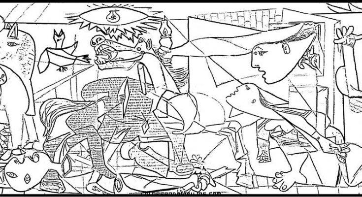 Dibujo El Guernica de Picasso para colorear