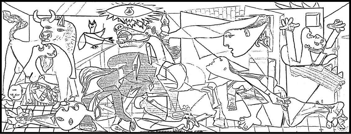 El Guernica De Picasso Para Colorear Dibujos Para Colorear
