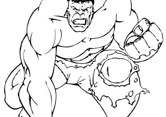 El Increíble Hulk Para Colorear Dibujos Para Colorear