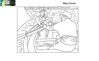 Dibujo El paseo en barca de Mary Cassatt