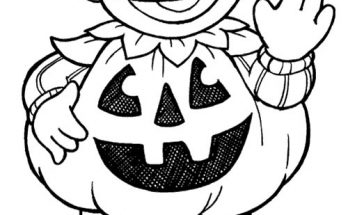 Dibujo Epi disfrazado de calabaza