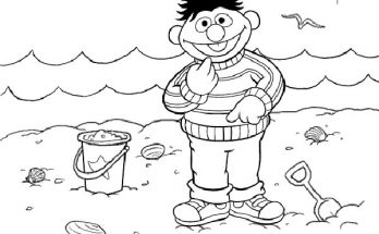Dibujo Epi en la playa