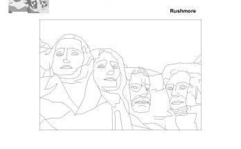 Dibujo Esculturas del Monte Rushmore
