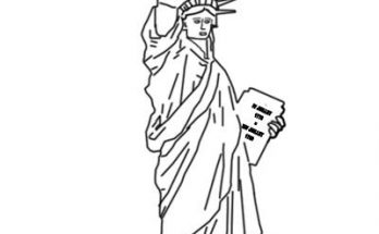 Dibujo Estatua de la Libertad para colorear