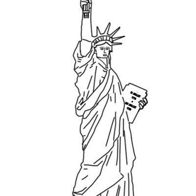 Estatua De La Libertad Para Colorear Dibujos Para Colorear
