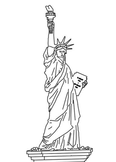 Estatua de la Libertad para colorear - Dibujos para colorear