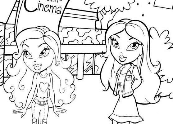 Ocio De Las Chicas Bratz Dibujos Para Colorear