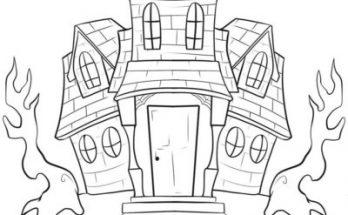 Dibujo Fantasmagórica casa encantada