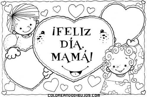 Feliz Día De La Madre Para Colorear Dibujos Para Colorear