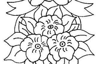 Dibujo Flores con lazo para regalar