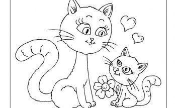 Dibujo Gatito felicita a su mamá en el día de la madre