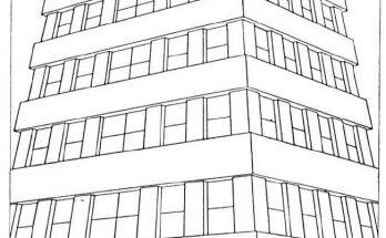 Dibujo Gran edificio moderno