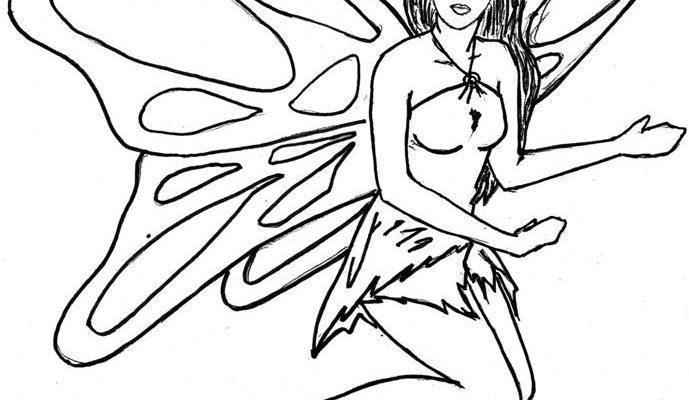 Hada Mariposa Para Colorear Dibujos Para Colorear
