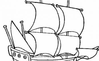 Dibujo Barco velero a toda vela