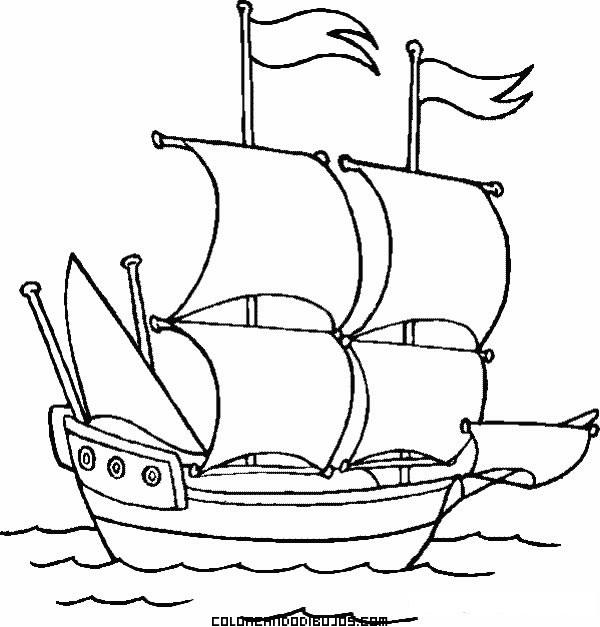 Barco Velero A Toda Vela Dibujos Para Colorear